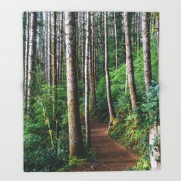Trees: III // Oregon Throw Blanket