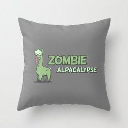 Zombie Alpacalypse Throw Pillow
