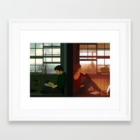 grantaire Framed Art Prints featuring Enjolras & Grantaire by rdjpwns