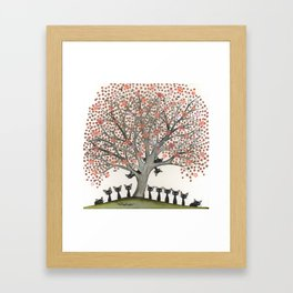Barbados Whimsical Cats in Tree Framed Art Print