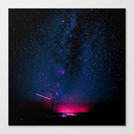 Electric Desert Starry Night Canvas Print