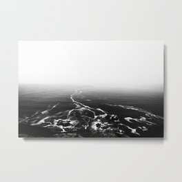 Disappearing Trails B&W Metal Print
