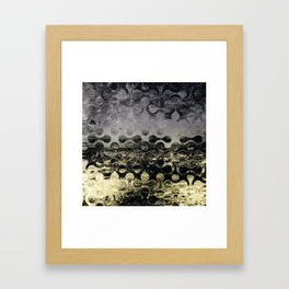 Distressed Silver Gold Multi Pattern Abstract Framed Art Print