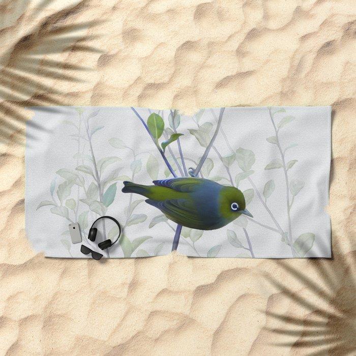 Little Silvereye Beach Towel