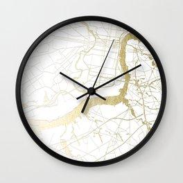Philidelphia - White and Gold Wall Clock
