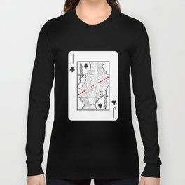 Single playing cards: Jack of Clubs Long Sleeve T-shirt