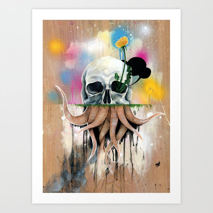 Skull Roots Art Print