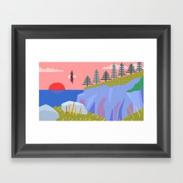 Bald Eagle Prince's Cove Eastport, Maine Framed Art Print