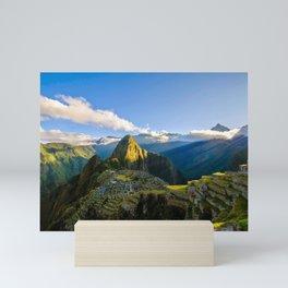 Machu Picchu Ruins Mini Art Print