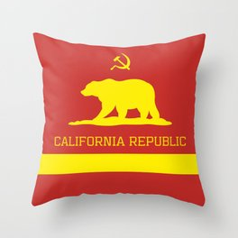 Cali Commie - California Communist Throw Pillow