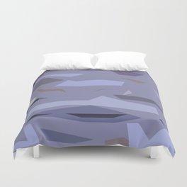 Fragmented Violet Duvet Cover