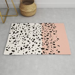 Terrazzo pink abstract Rug