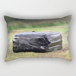 Square Black Silage Bale Rectangular Pillow