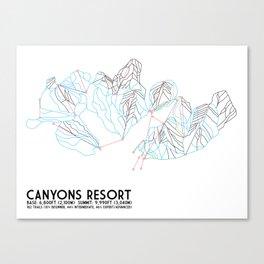 Canyons Resort, UT - Minimalist Trail Art Canvas Print