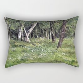 Woodland Forest Landscape Nature Art Rectangular Pillow
