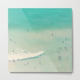 beach summer waves Metal Print