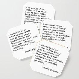 Albert Einstein Quote 08 Coaster