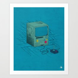 Old Video Game Console Art Print