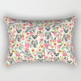 Schnauzer florals dog must have gifts for schnauzers pure breed Rectangular Pillow