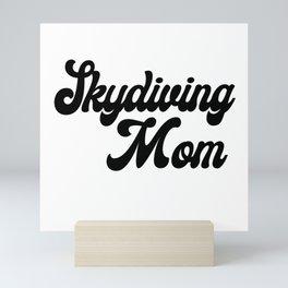 Skydiving Mom Mini Art Print