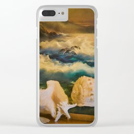 Sea Shell Still Life Clear iPhone Case