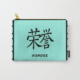 """Symbol """"Honour"""" in Green Chinese Calligraphy Carry-All Pouch"""
