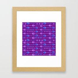 Unique Artsy Spoons! (Bright Purple) Framed Art Print