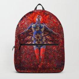 V30 Stunning Art Design Manipulation Moroccan Traditional Carpet. Backpack
