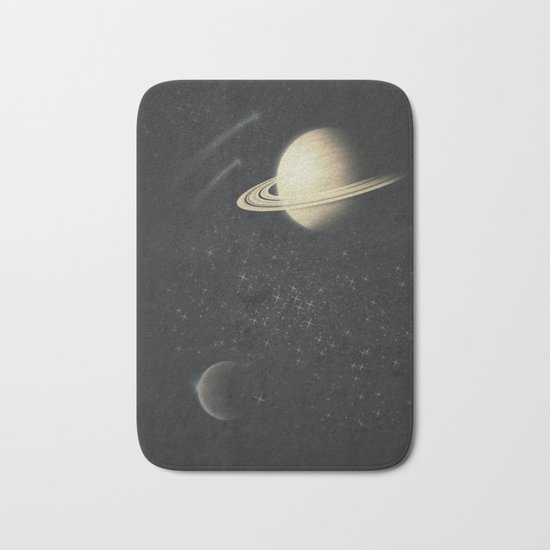 Deep Black Space Bath Mat