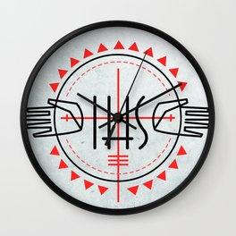 IHS religious Jesuit symbol Wall Clock
