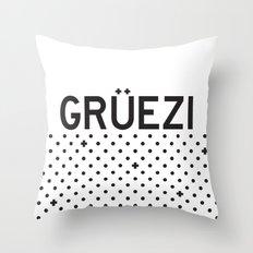 Gruezi//Five Throw Pillow