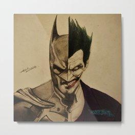Batman/Joker Metal Print