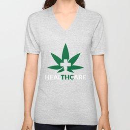 Marijuana THC Healthcare Weed Pot Unisex V-Neck