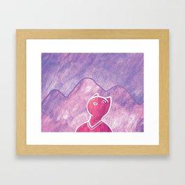 Mountain Cat Framed Art Print