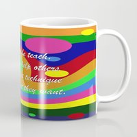 teacher Mugs featuring art teacher by Maria Julia Bastias