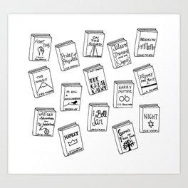 Bibliophilia (Titles) Art Print