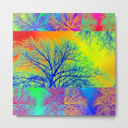 Rainbow Trees Metal Print