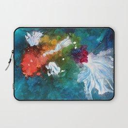 Rainbow Splatter Koi Laptop Sleeve