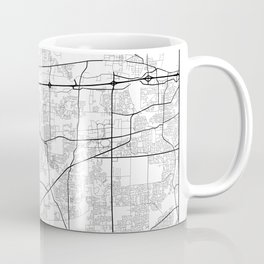 Minimal City Maps - Map of Aurora, Illinois, United States Coffee Mug