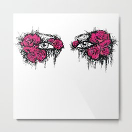 If I Could hide your eyes  Metal Print