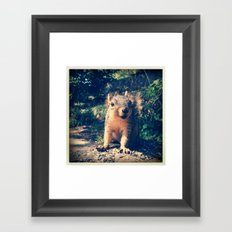 Happy to See You Framed Art Print