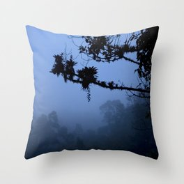 The blue forest Throw Pillow