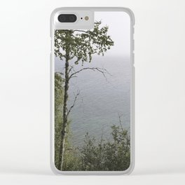 Lake through trees Clear iPhone Case