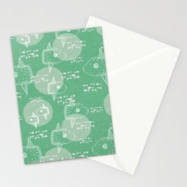 Mola Mola Green-Ocean sunfish Stationery Cards