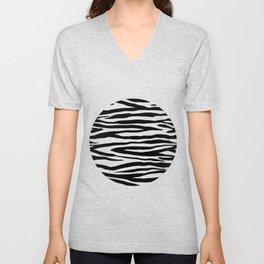 Zebra StripesPattern Black And White Unisex V-Neck