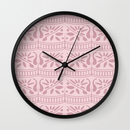floral lace ruffle seamless repeat pattern in fairy wing and little piglet Wall Clock