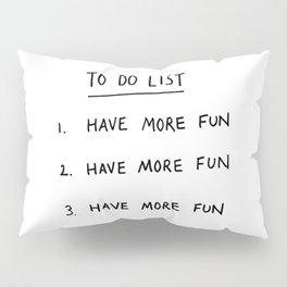 To Do List Pillow Sham
