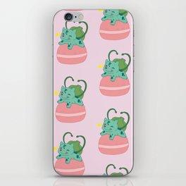 Little Bulba, Big Macaron iPhone Skin