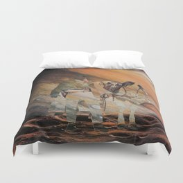 The Wild West Guide To The Galaxy Presents The Unknown Rider Jupiter Rising Duvet Cover