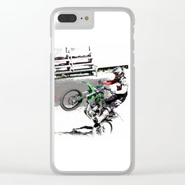 Making a Stand - Freestyle Motocross Rider Clear iPhone Case